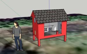 Chicken Coop Design in Google Sketchup