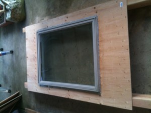 Chicken Coop with large double pane window