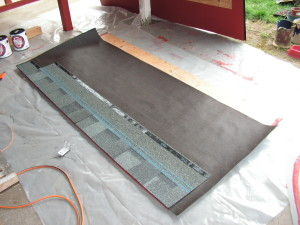 Chicken house roof panel