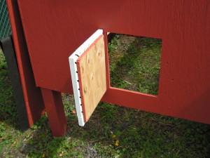 Chicken House Door Open