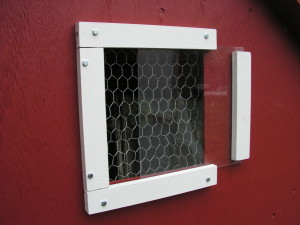 Chicken House sliding window