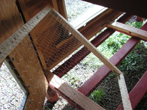 Chicken House Floor Frame with Chicken Wire